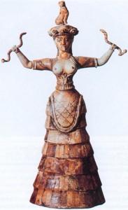 snake goddess minoan